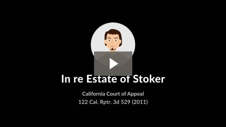 In re Estate of Stoker