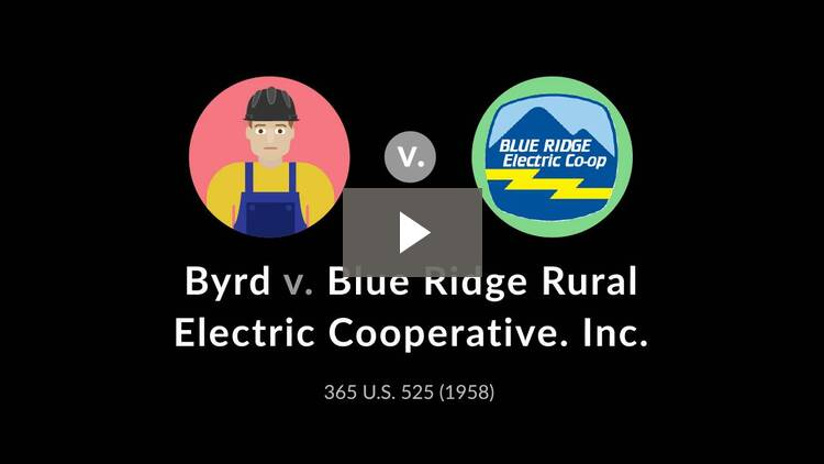 Byrd v. Blue Ridge Rural Electric Cooperative
