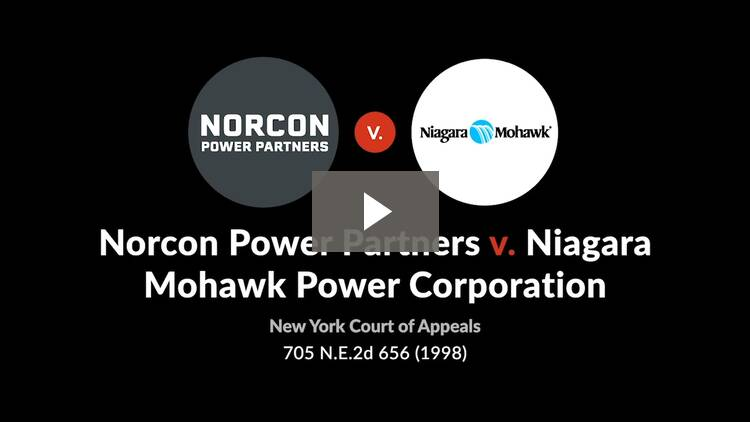 Norcon Power Partners, L.P. v. Niagara Mohawk Power Corp.