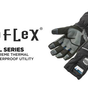 Ergodyne Product Video - ProFlex<sup>®</sup> 819WP Extreme Thermal Waterproof Winter Work Gloves w/ Tena-Grip<sup>™</sup>