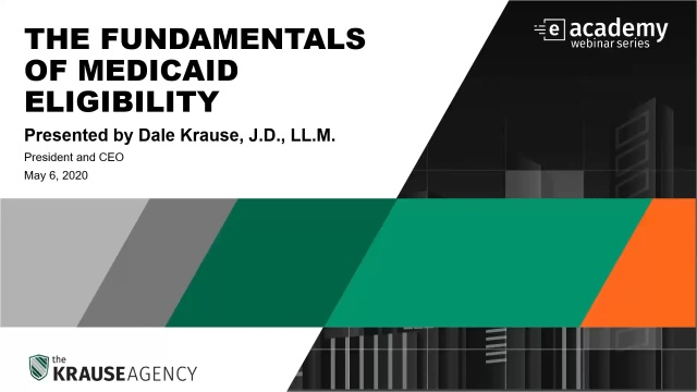 The Fundamentals of Medicaid Eligibility