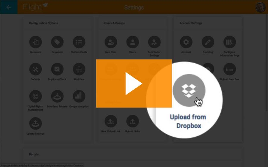 How to upload from Dropbox to Flight