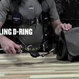 Ergodyne Product Video - Squids<sup>®</sup> 3025 Accessory Pack Retractables - SS Carabiners