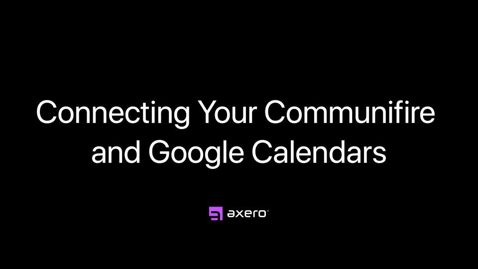 Connecting Your Communifire and Google Calendars