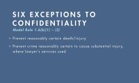 Exceptions to the Confidentiality Rule thumbnail