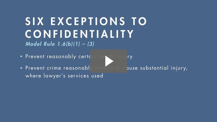 Exceptions to the Confidentiality Rule