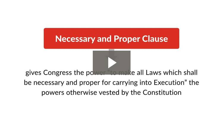 Introduction to Legislative Power