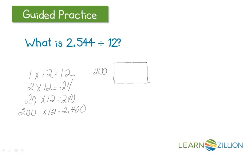 Use An Area Model For Division Of 4 Digit Dividends By 2 Digit
