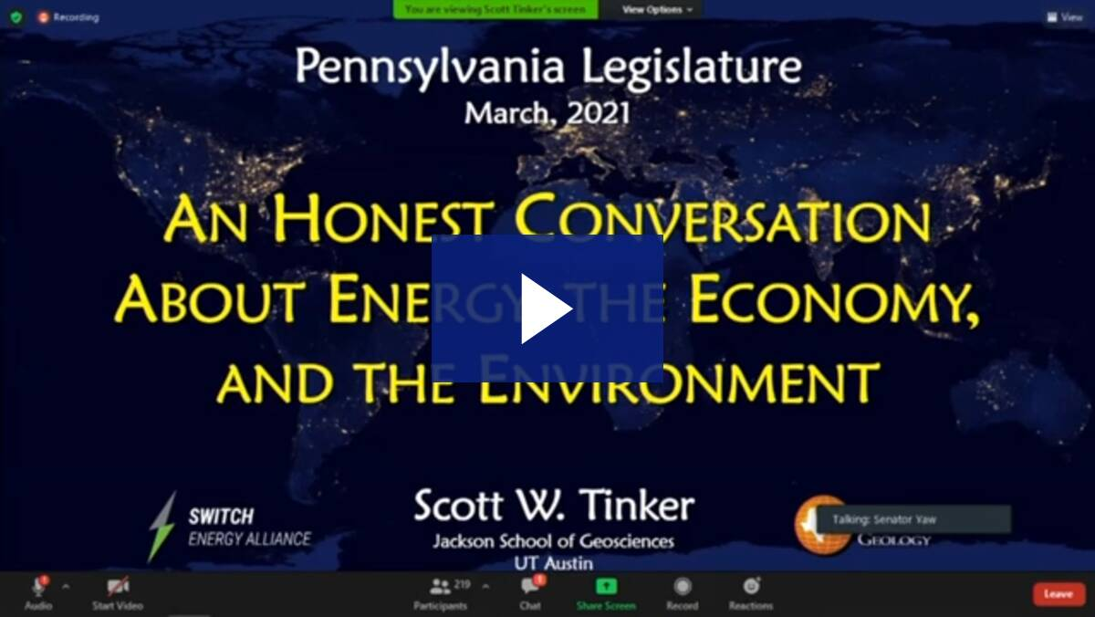 3/23/21 – Interrelationship Between Energy, the Economy, and the Environment