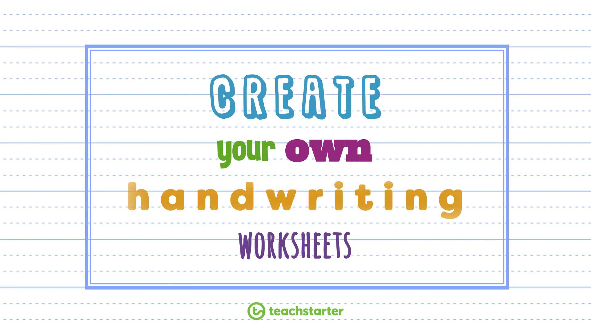 Create Your Own Handwriting Sheets Easily Handwriting Generator