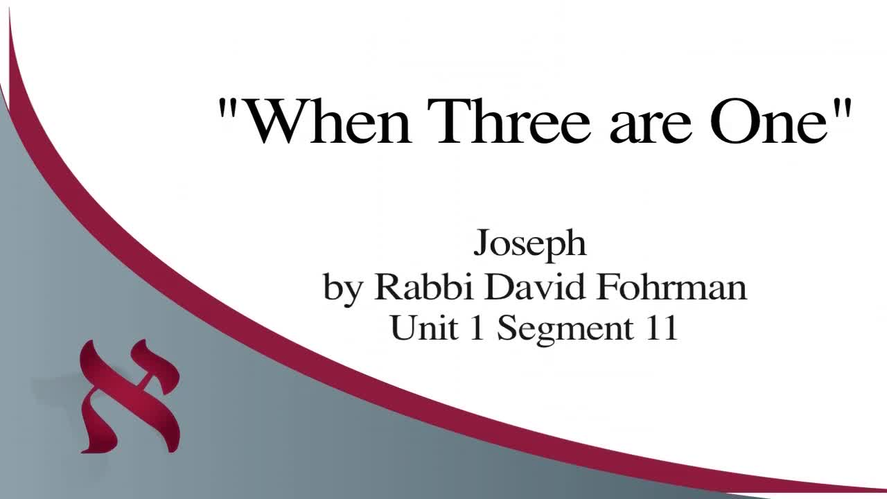 When Three Are One