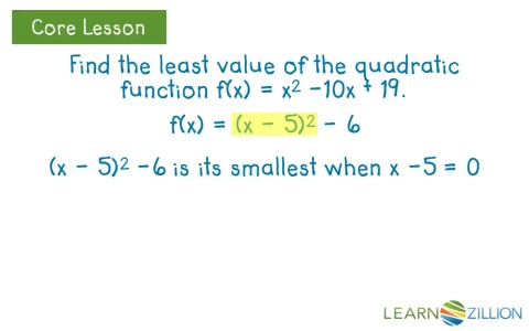 Find The Maximum Or Minimum Value Of A Quadratic Function By