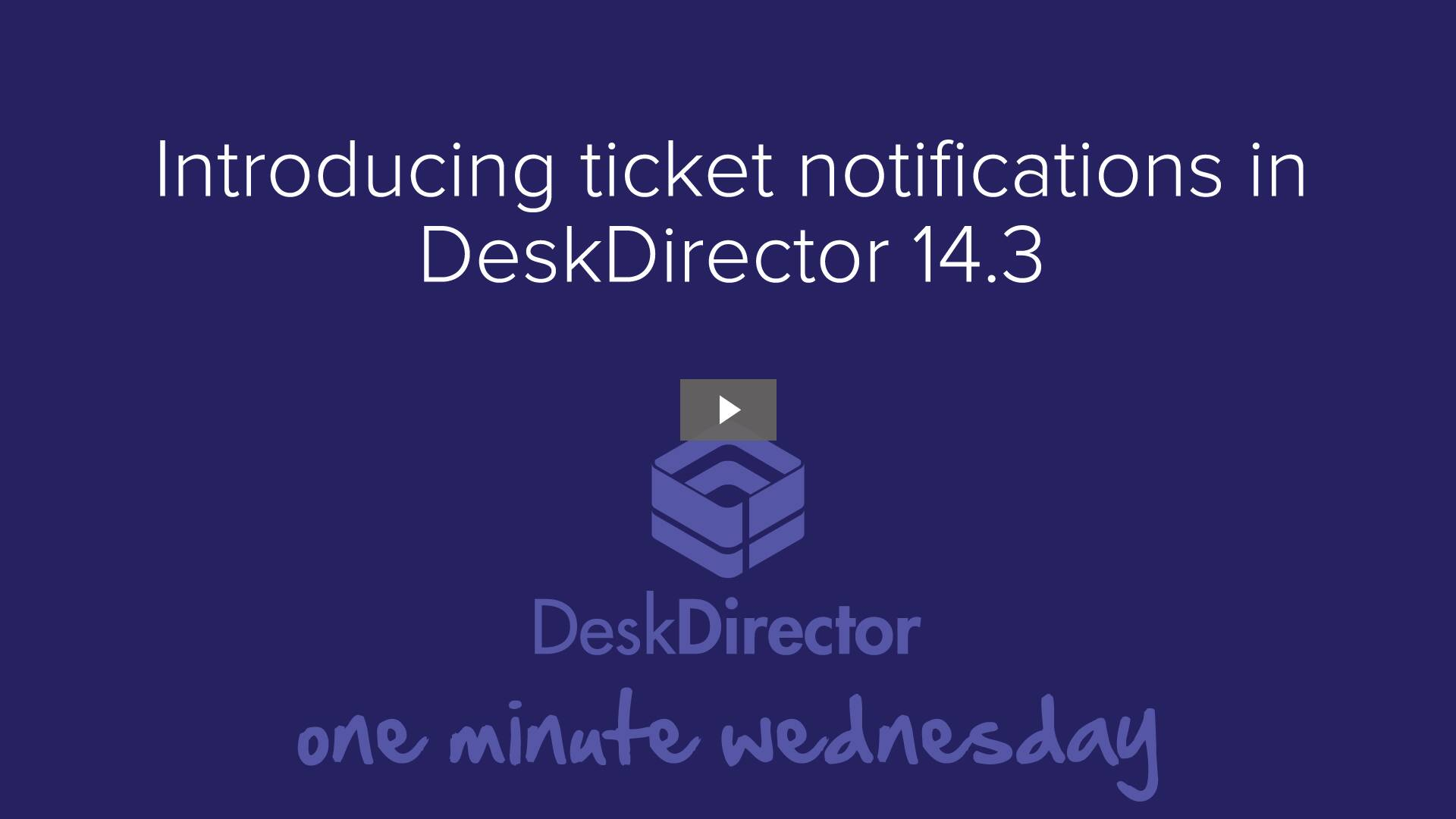 Introducing ticket notifications