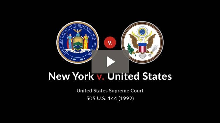 New York v. United States