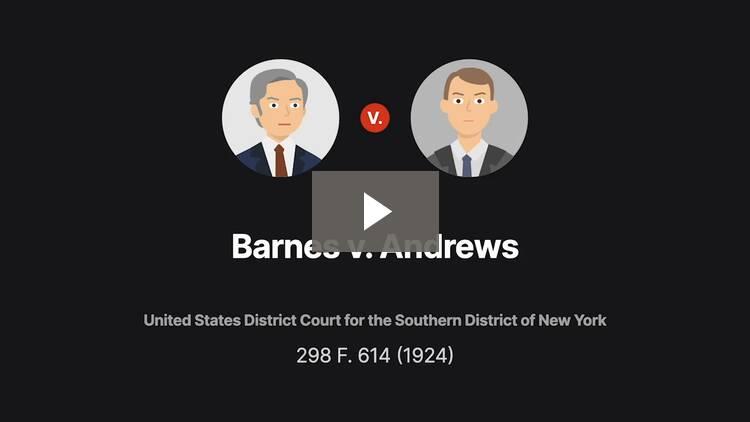 Barnes v. Andrews