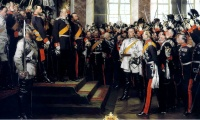 What role did international circumstances play in the formation of a German nation state?
