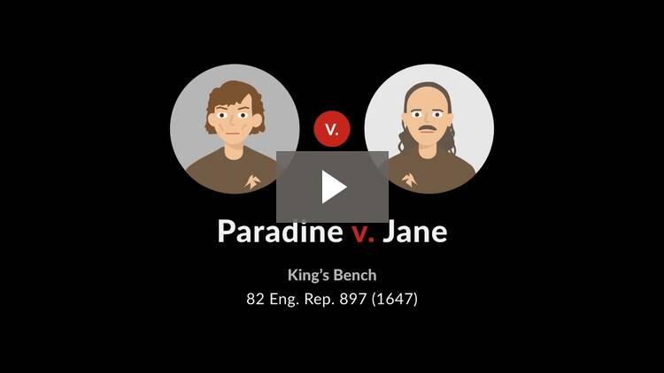 Paradine v. Jane