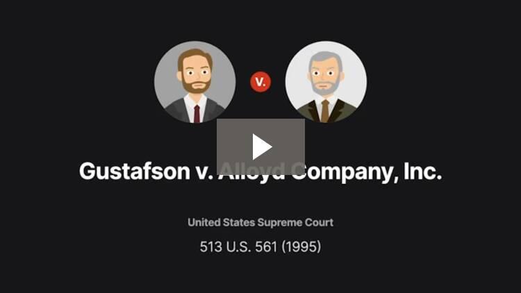 Gustafson v. Alloyd Company, Incorporated