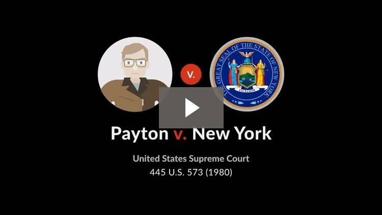Payton v. New York