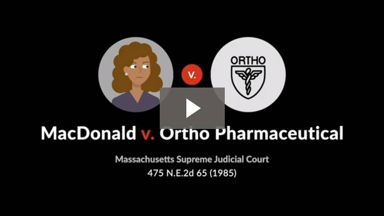 MacDonald v. Ortho Pharmaceutical Corp.