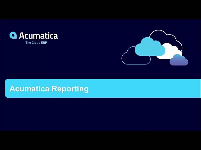 Acumatica Reporting