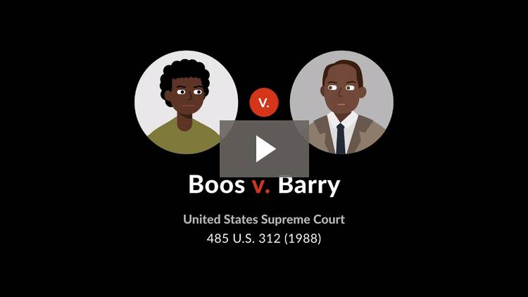 Boos v. Barry