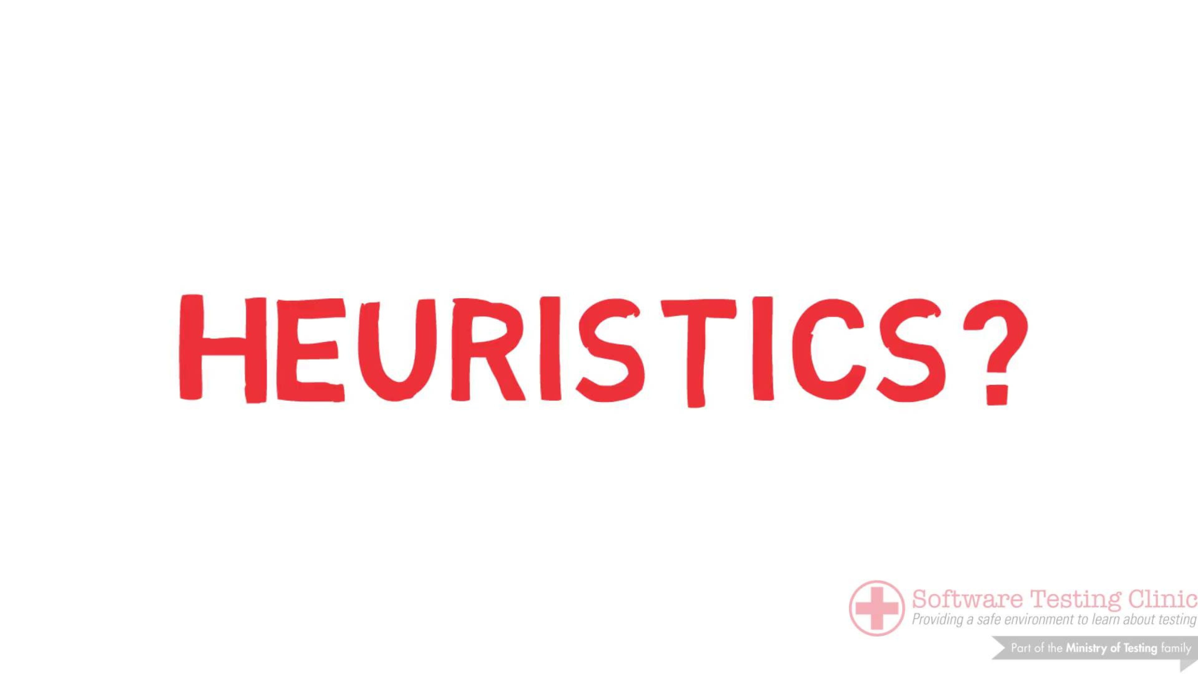 99 Second Introduction to Heuristics
