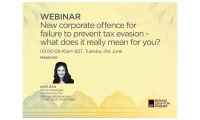 Still image from 'On-Demand Webinar: New corporate offence for failure to prevent tax evasion' video