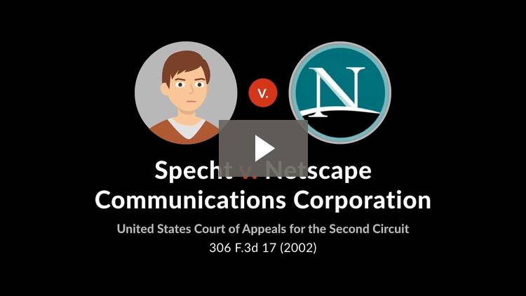 Specht v. Netscape Communications Corp.