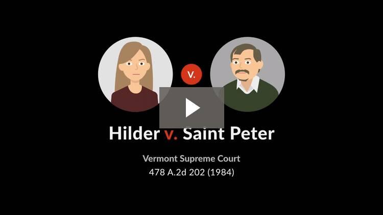 Hilder v. St. Peter
