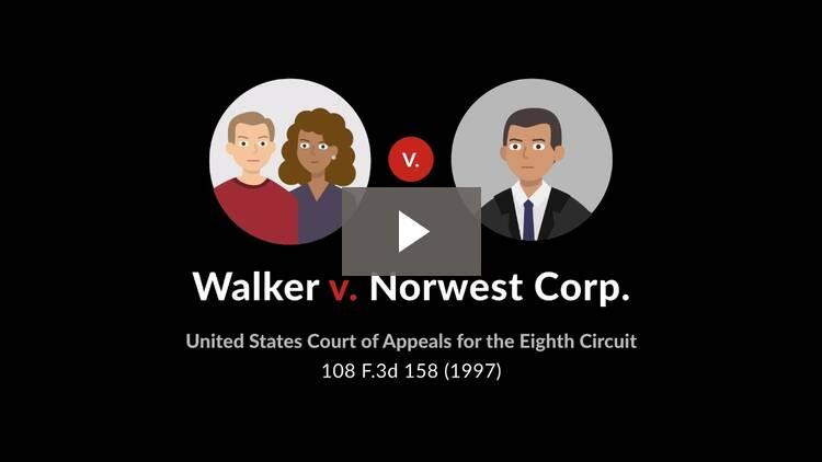 Walker v. Norwest Corp.