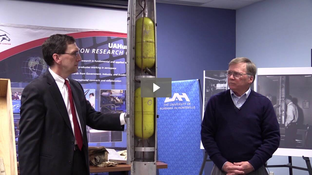 A video of UAH Professor Dr. Jim Blackmon shares how his mentorship with Dr. Wernher von Braun fostered his passion for science.