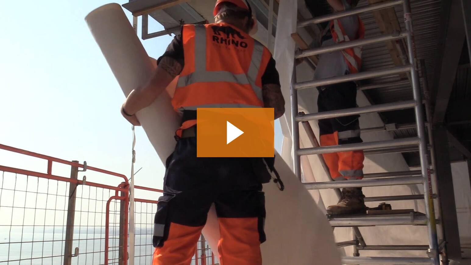 Installing Temporary Weather Protection For High Rise Construction