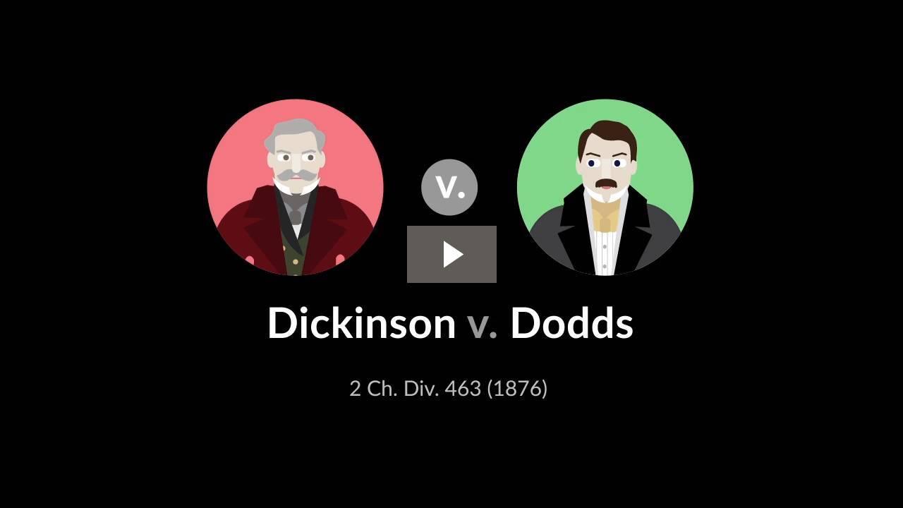 Dickinson v. Dodds
