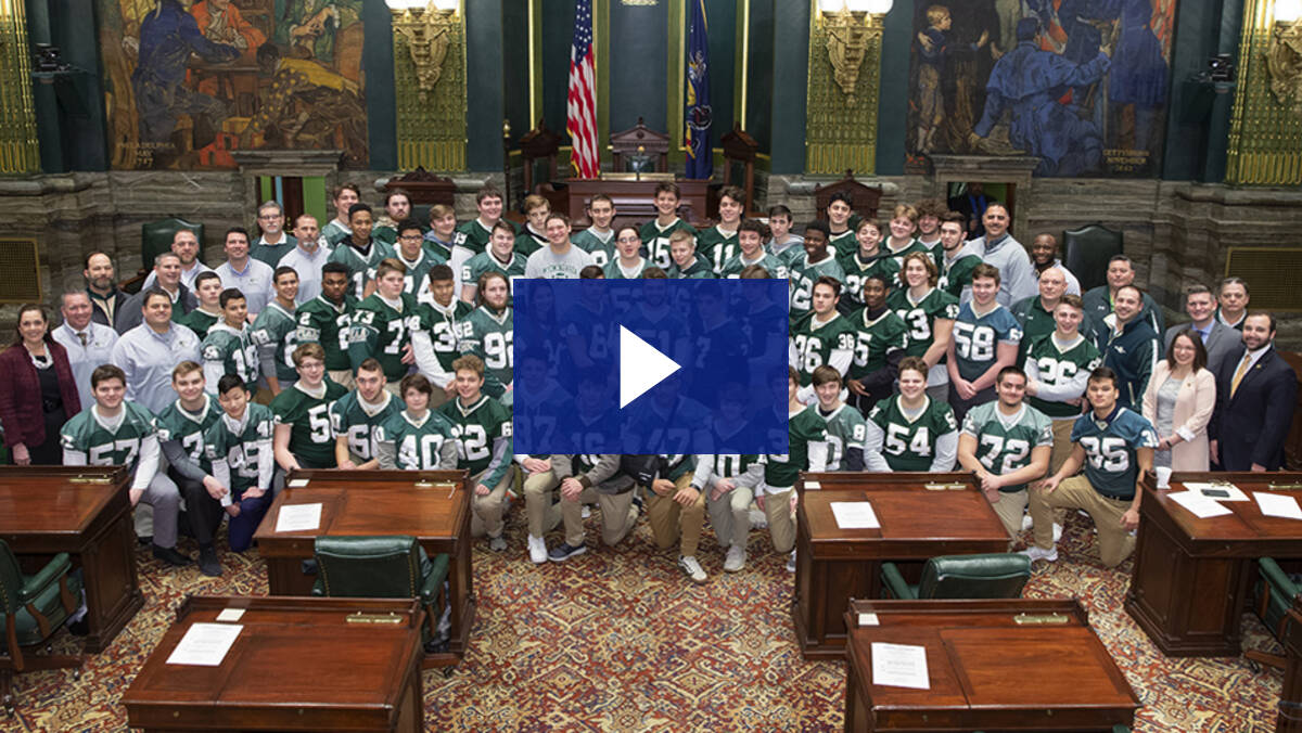 2/5/20 – Recognizing PA's Class AAA Football Champs – The Wyoming Area Warriors