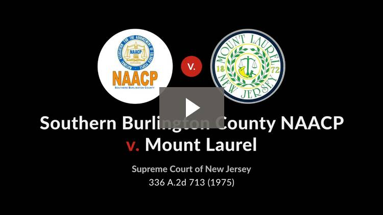 Southern Burlington County, NAACP v. Township of Mount Laurel