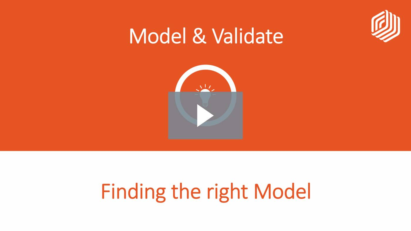 Finding the right Model