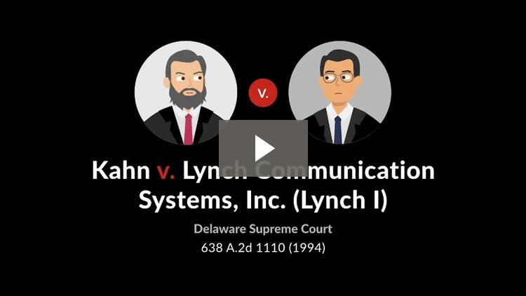 Kahn v. Lynch Communication Systems, Inc.