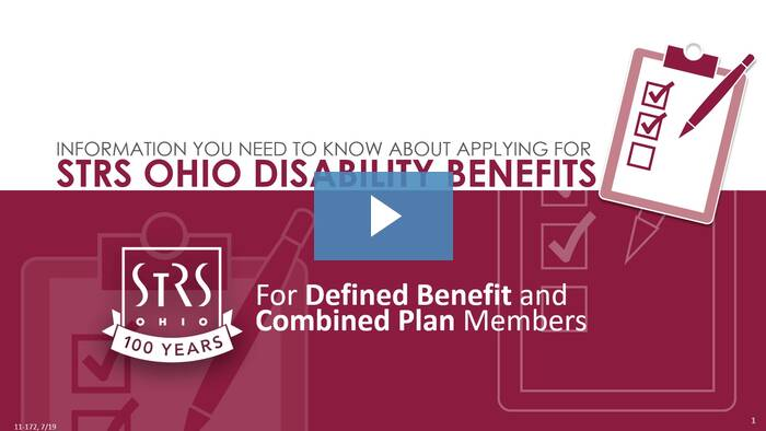 Thumbnail for the 'Disability Benefits' video.
