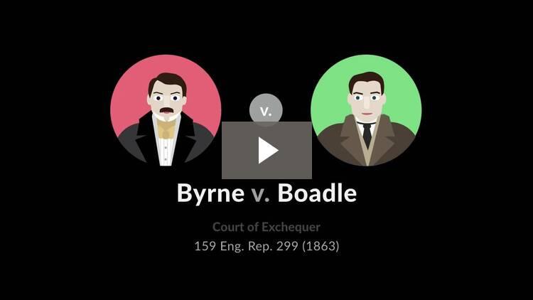 Byrne v. Boadle
