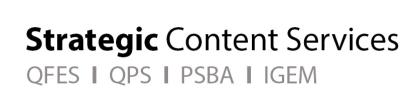 QFES Strategic Content Services
