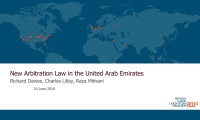 Still image from 'Overview of the New Arbitration Law in the UAE' video