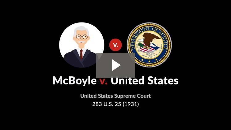 McBoyle v. United States