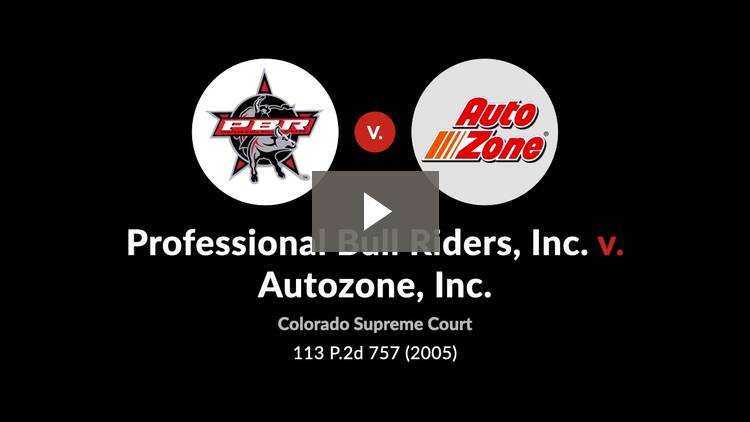 Professional Bull Riders, Inc. v. AutoZone, Inc.