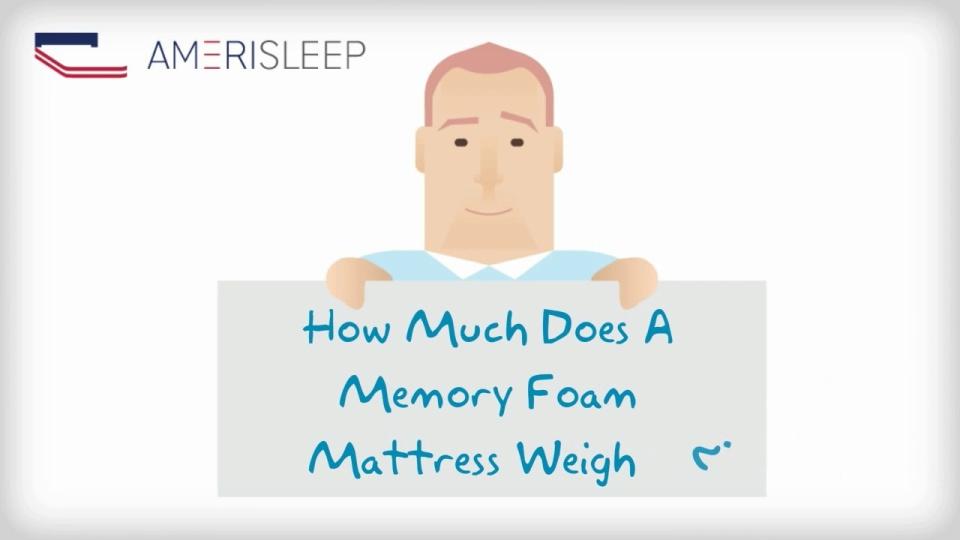 How Much Does A Memory Foam Mattress Weigh