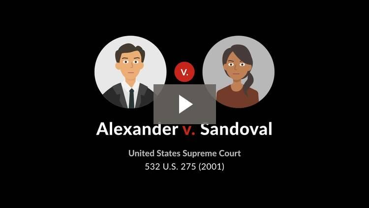 Alexander v. Sandoval
