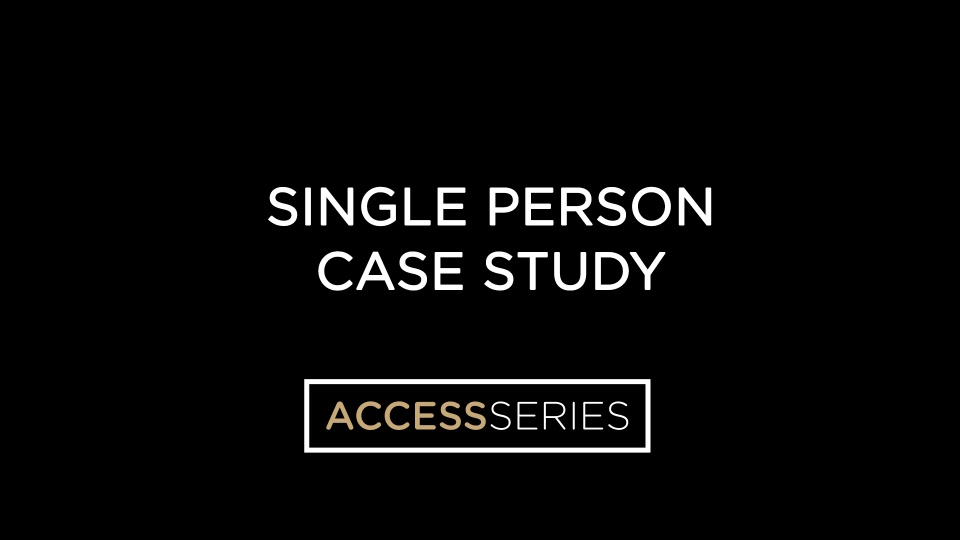 Single Person Case Study