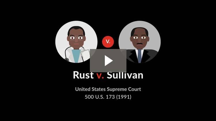Rust v. Sullivan