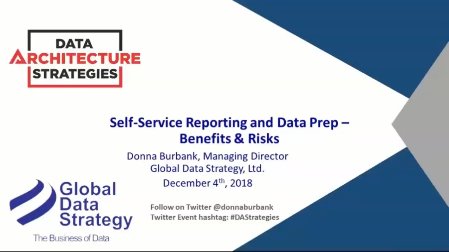 Data Architecture Strategies Self-Service Reporting and Data Prep – Benefits & Risks-20181204 1859-1