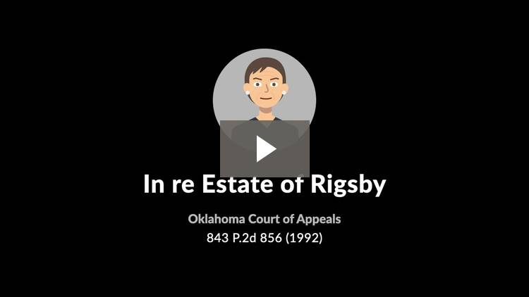 In re Estate of Rigsby